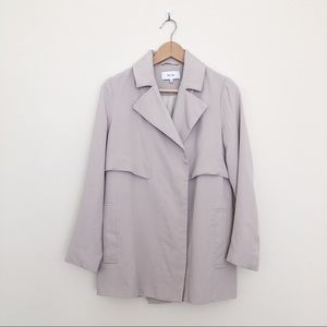 Reiss Vance Cropped Trench Jacket in Cloud